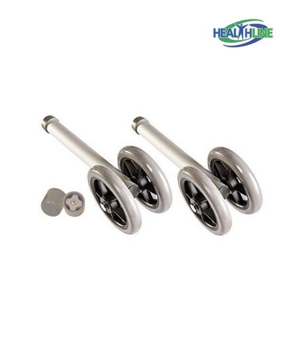 Heavy Duty Bariatric Walker Wheels Pair, Double 5 Wheels