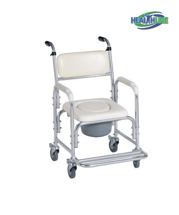 Aluminum Shower Chair/Commode W/Wheels