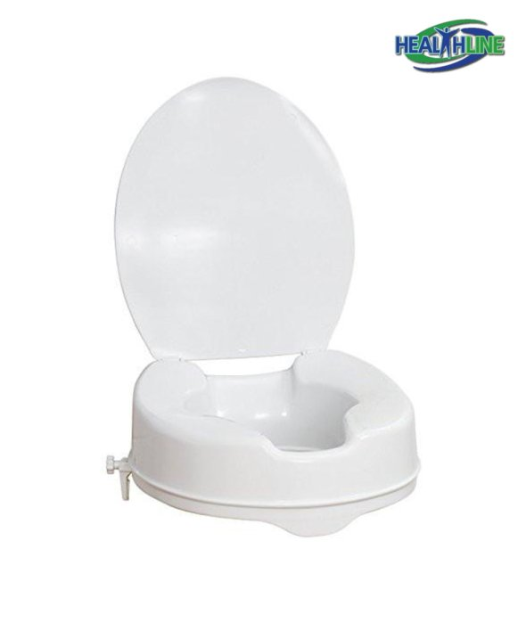 Raised Toilet Seat with Lid 4-inches