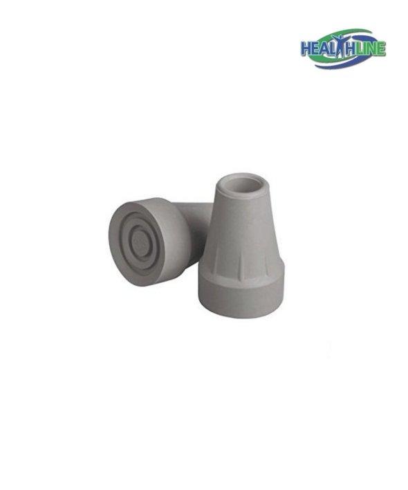 Large Super Crutch Tip, Gray, 7/8 Inchl / pair
