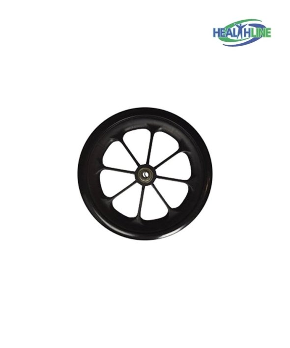 Wheel Replacement For Wheelchairs, 8 inch by 1 inch Black lot (1)