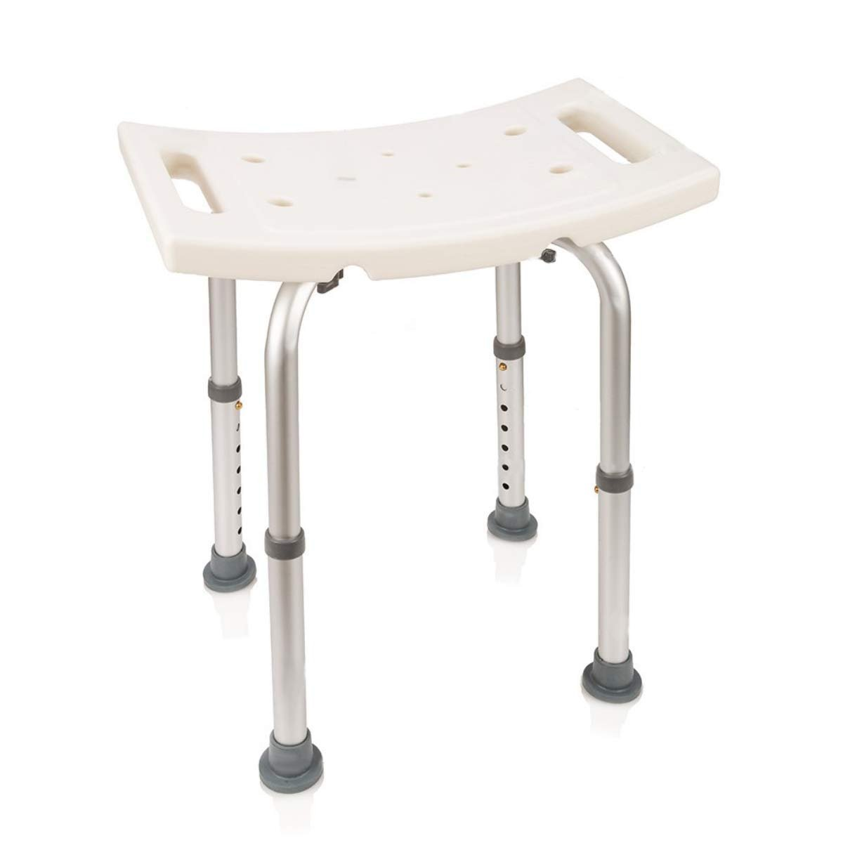 Astonishing Healthline Bath Bench Without Back Adjustable Shower Chair Without Back Shower Bench Non Slip Seat Bathtub Stool For Seniors Elderly Disabled Ibusinesslaw Wood Chair Design Ideas Ibusinesslaworg